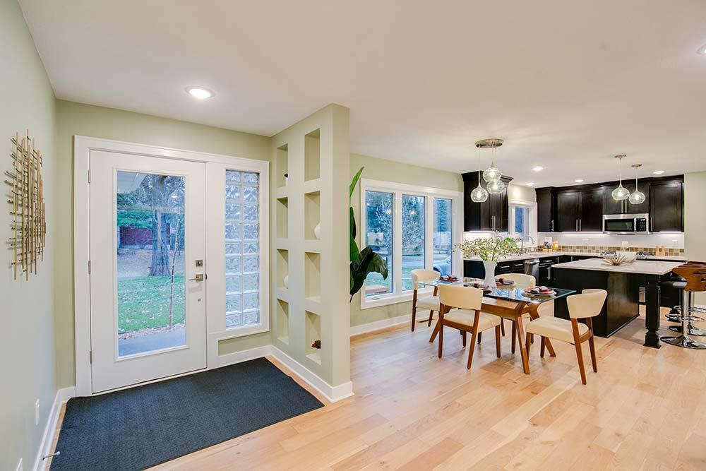 Staged Mid Century Modern Home