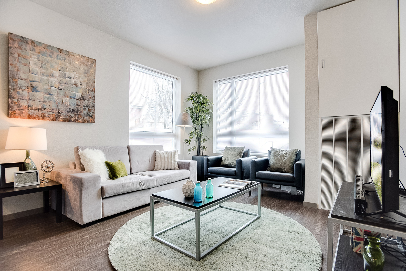 Staging Small Spaces, AirBnB Home Staging in Minneapolis, Staged Living Room #117 ~ Staged by Lionheart