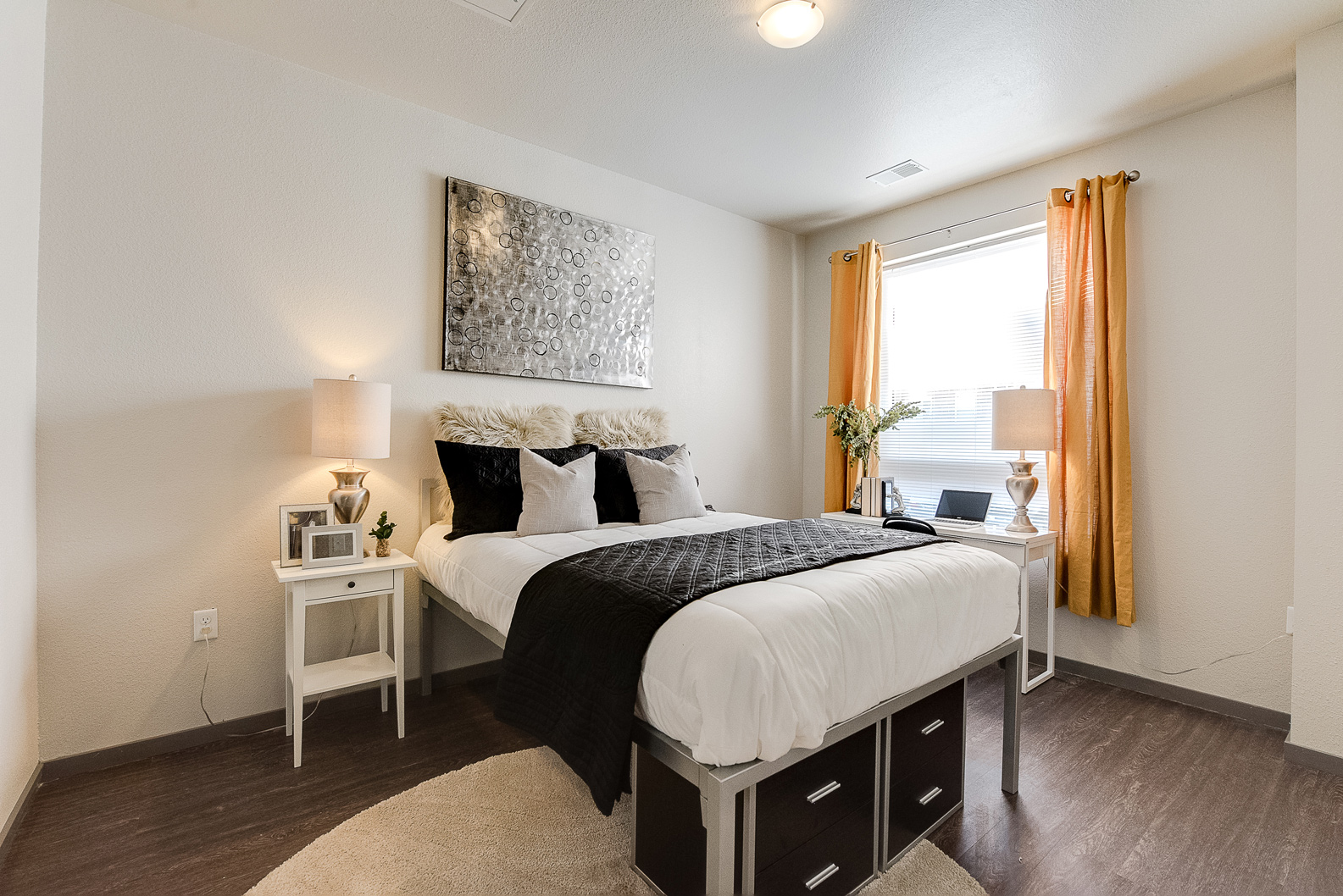 AirBnB Home Staging, Contemporary Staged Bedroom #117 ~ Staged by Lionheart