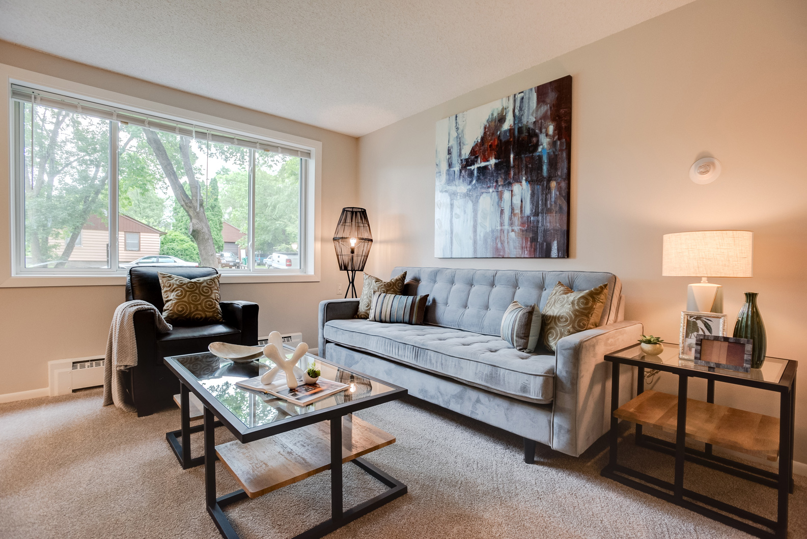 Garden View Staging for Apartments, Staging Small Spaces in Minneapolis, #1328 Idaho ~ Staged by Lionheart
